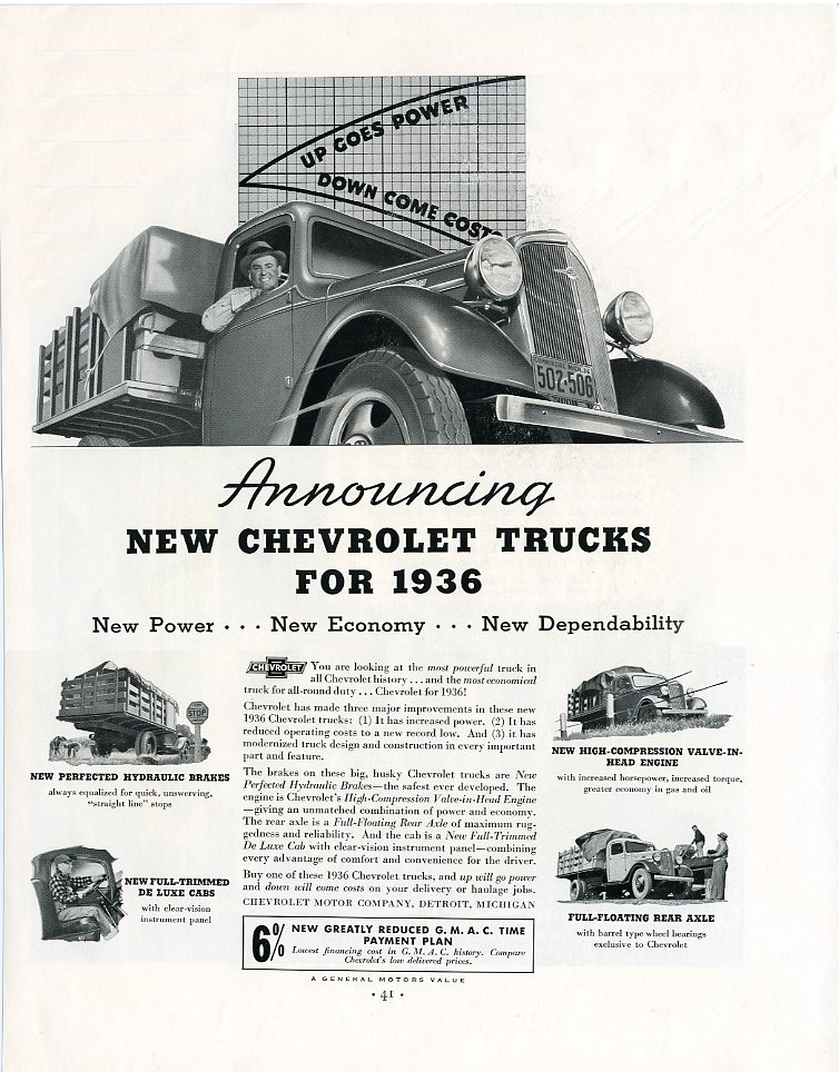 chevy trucks. 1950 Chevrolet Trucks ad.